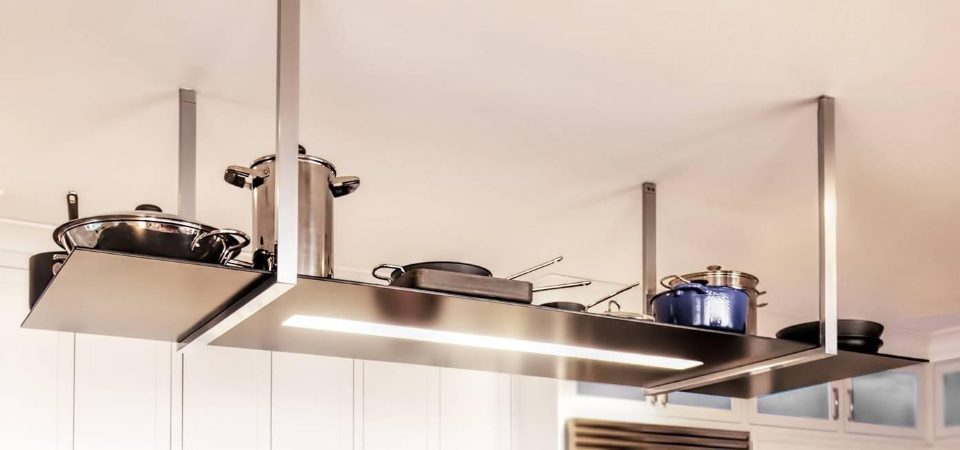 Pot Rack With Light Fixture Home Design Regard To Holder Lights Fixtures