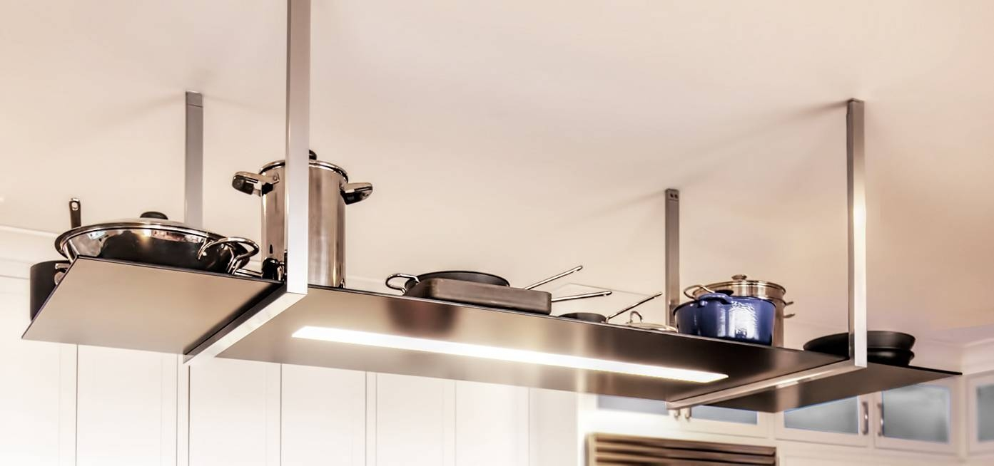 Pot Rack With Light Fixture | Home Design with regard to Pot Rack With Lights Fixtures (Image 12 of 15)