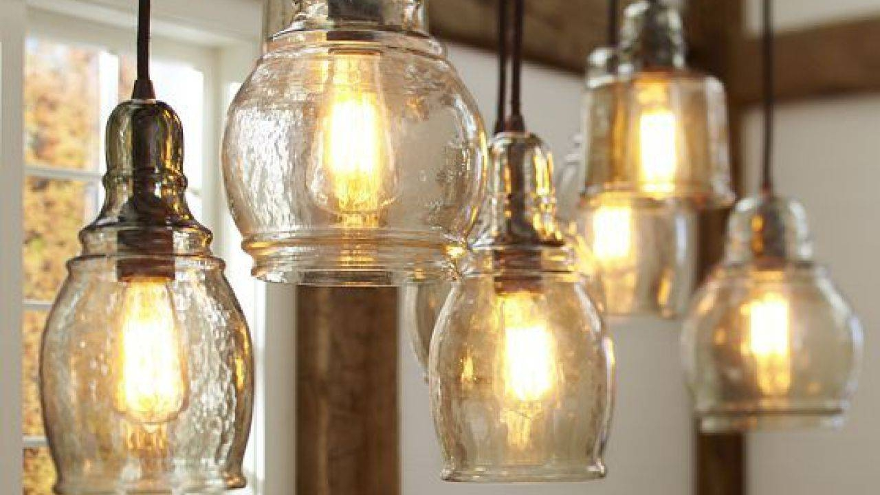 Pottery Barn Lighting Catalog | Head And Floor Lamp For Your Home with regard to Paxton Glass 8 Light Pendants (Image 14 of 15)