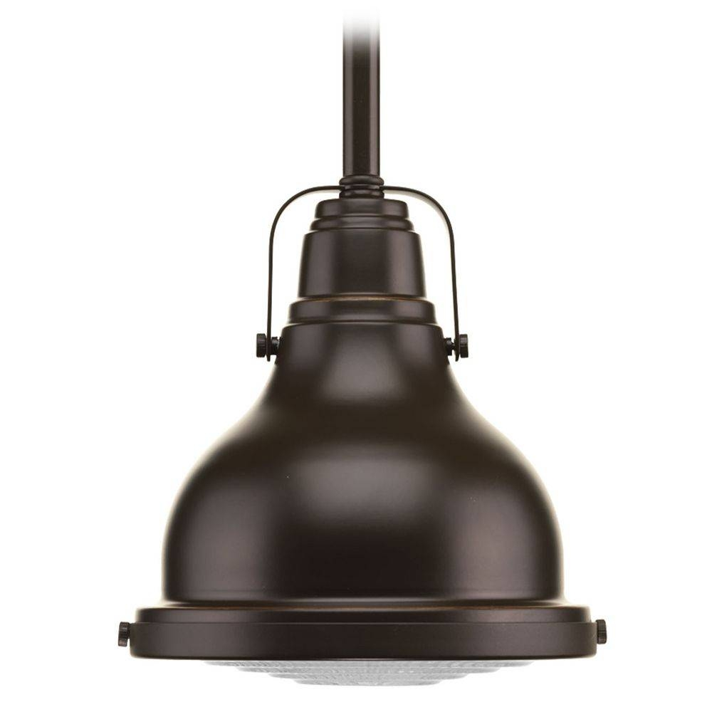 Progress Lighting Fresnel Lens Oil Rubbed Bronze Mini-Pendant throughout Oil Rubbed Bronze Pendant Lights (Image 11 of 15)