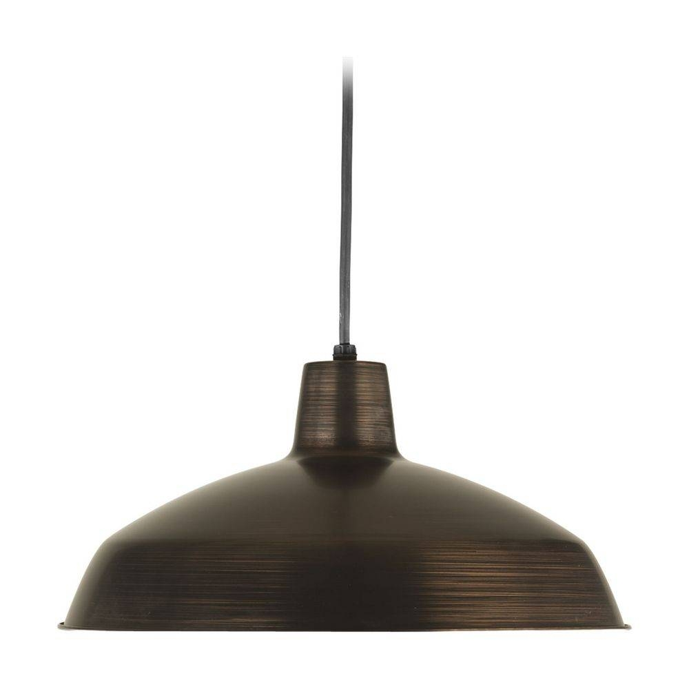 Progress Warehouse Industrial Pendant Light With Bronze Metal pertaining to Industrial Pendant Lights (Image 11 of 15)