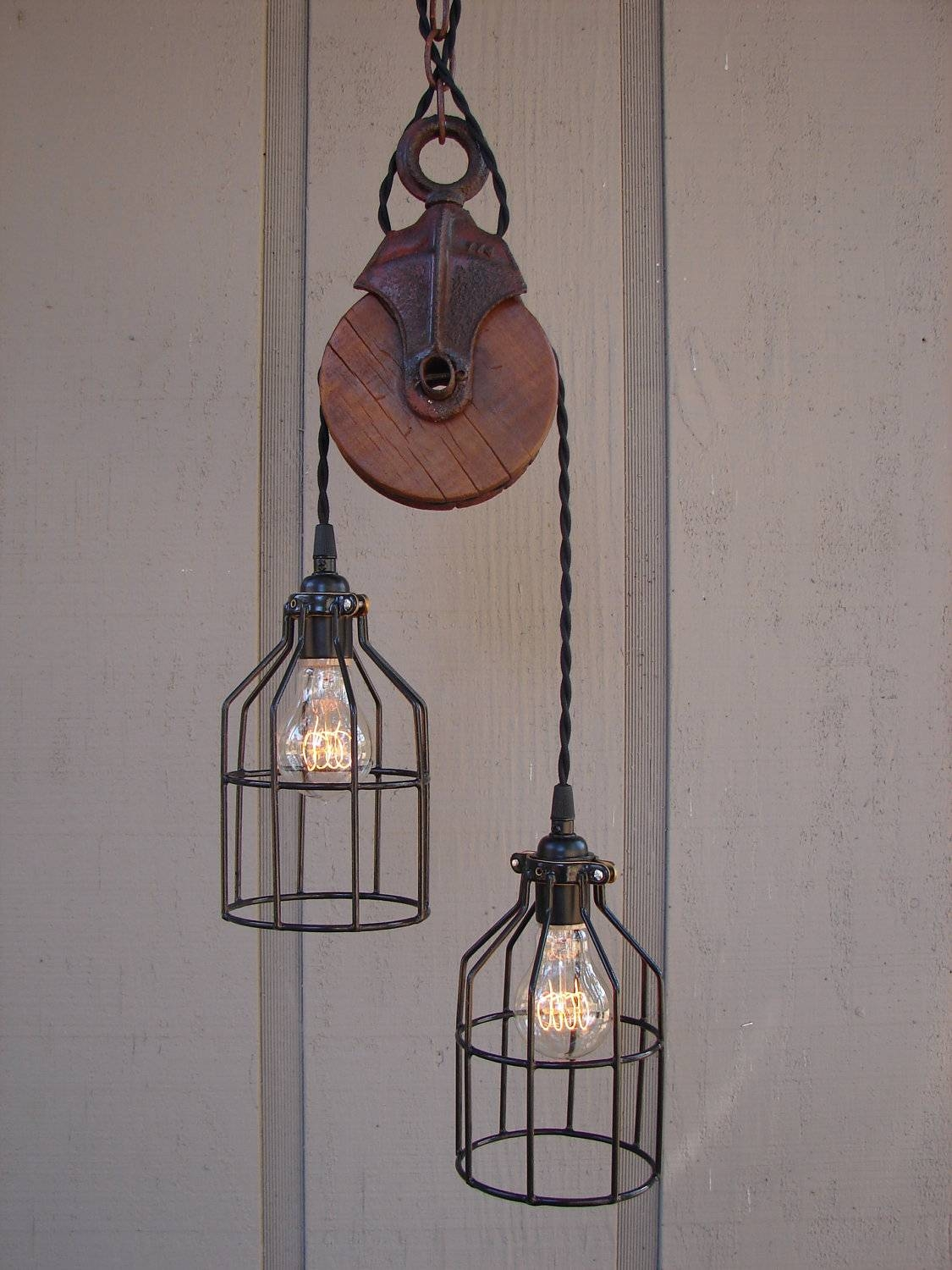 Pulley Pendant Light - Hbwonong with Pulley Pendant Lights (Image 14 of 15)