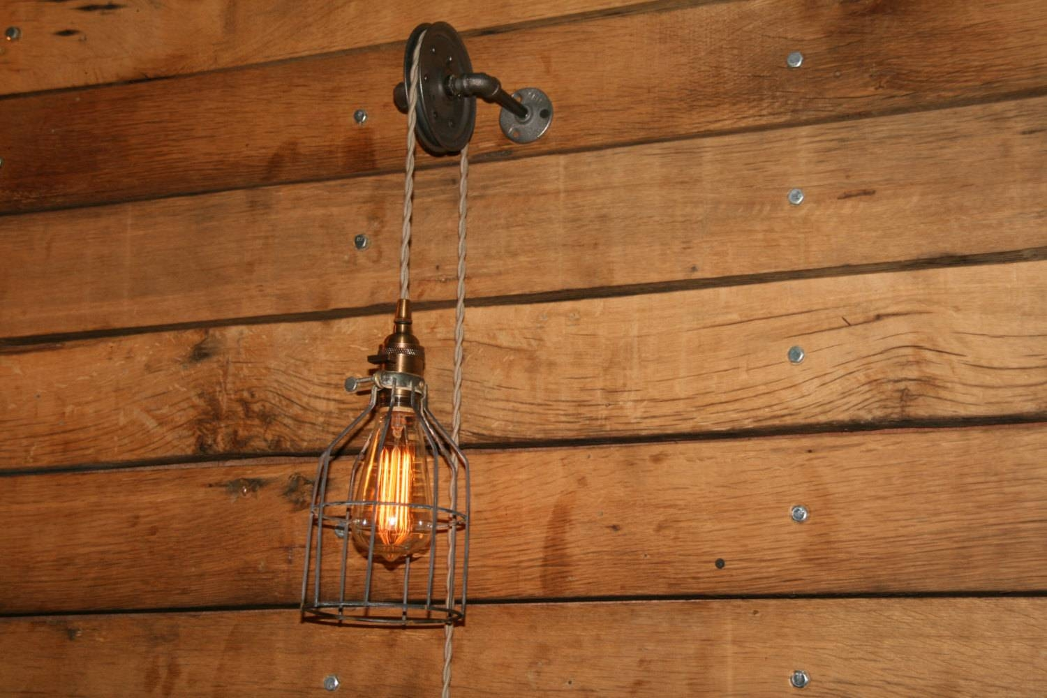 Pulley Pendant Light. Pulley Pendant Light Bathroom Traditional with regard to Pulley Lights Fixtures (Image 14 of 15)