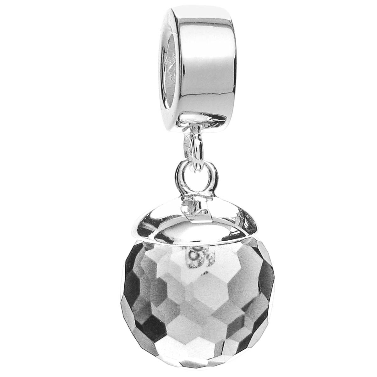 Queenberry: Sterling Silver Clear Crystal Disco Ball in Disco Ball Pendants (Image 9 of 15)