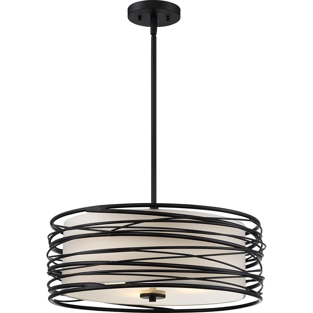 Quoizel Spl2820K Spiral Contemporary Mystic Black Drum Hanging in Black Drum Pendant Lights (Image 15 of 15)