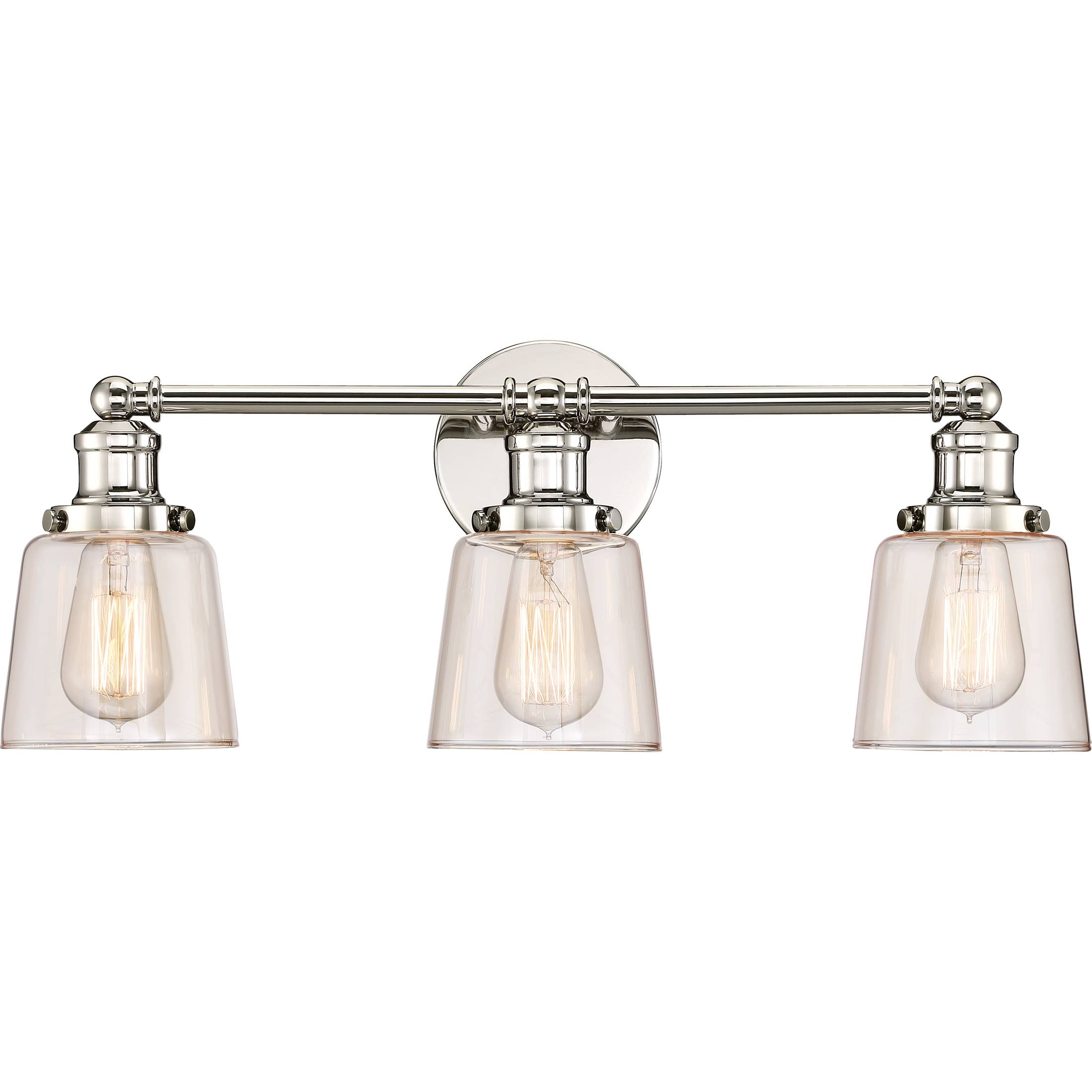 Quoizel|Uni8603Pk|Bath Fixture 3 Lgt Plsh Nickl for Union Lighting Pendants (Image 11 of 15)