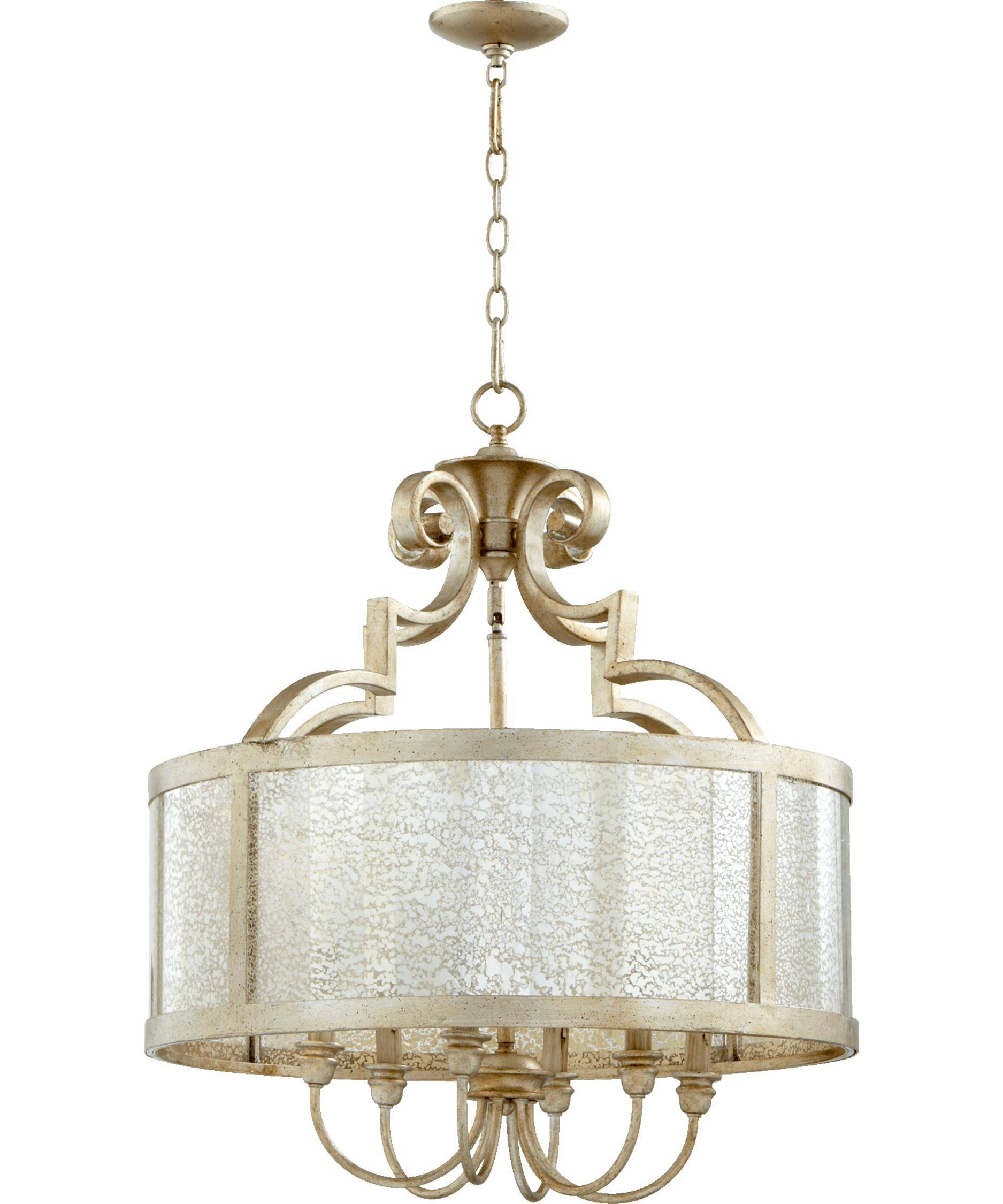 Quorum International 6481 Champlain 24 Inch Wide 6 Light Inside Quorum Pendant Lights (View 10 of 15)