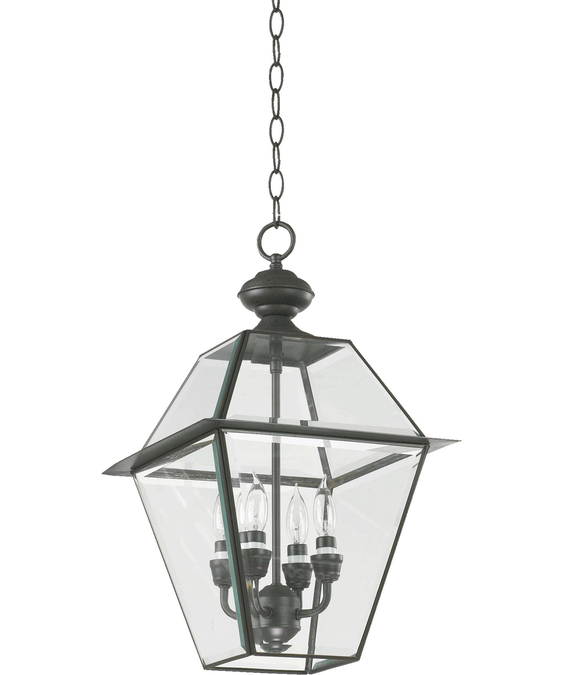 Quorum International 728 4 Duvall 12 Inch Wide 4 Light Outdoor Pertaining To Quorum Pendant Lights (View 8 of 15)