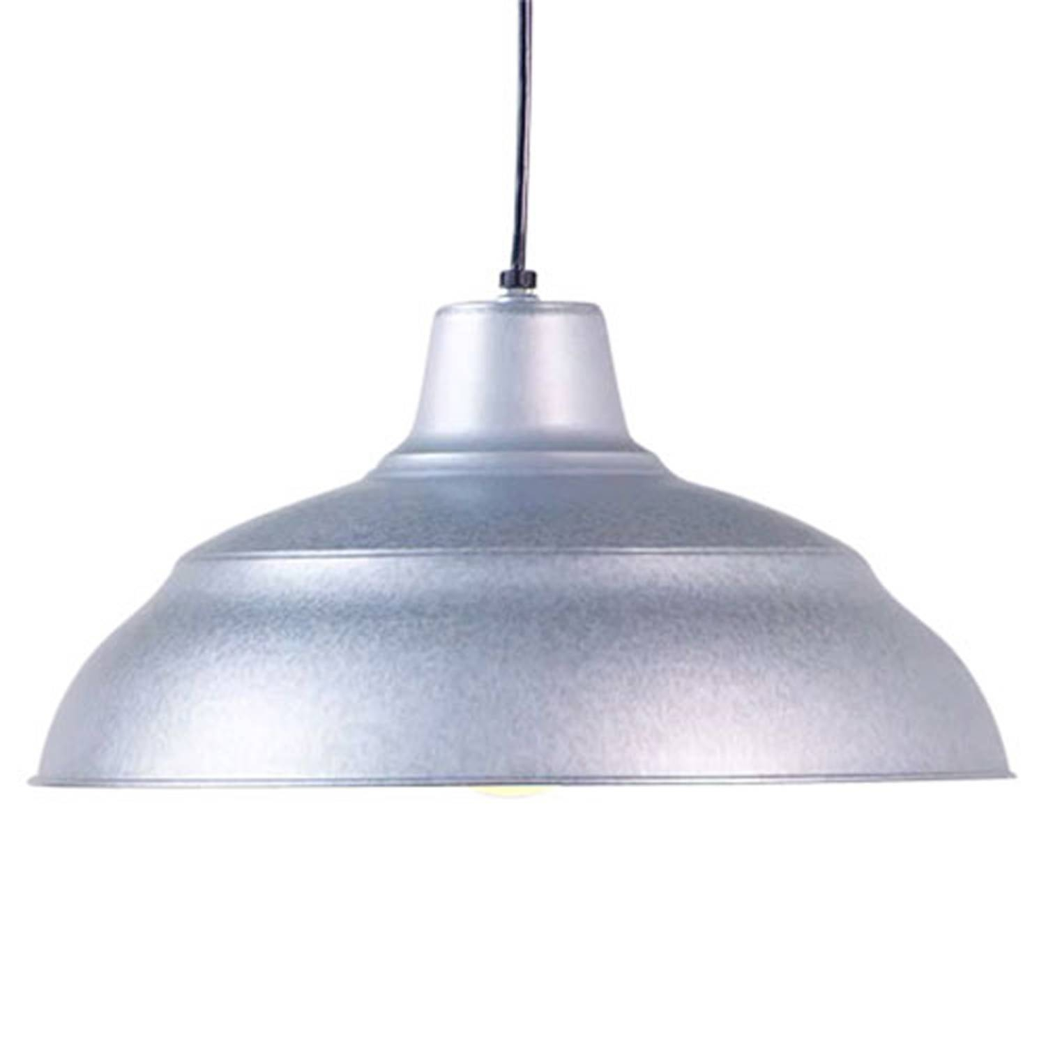 R Series Galvanized 17 Inch Warehouse Cord Hung Outdoor Pendant pertaining to Warehouse Pendant Light Fixtures (Image 9 of 15)