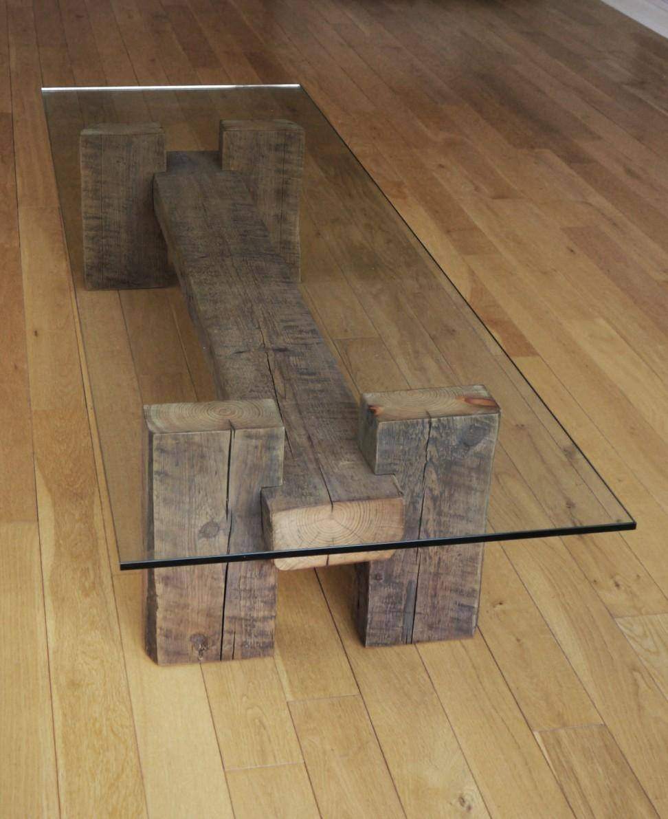 Rail Sleeper Coffee Table - Coffee Addicts in Oak Sleeper Coffee Tables (Image 6 of 15)
