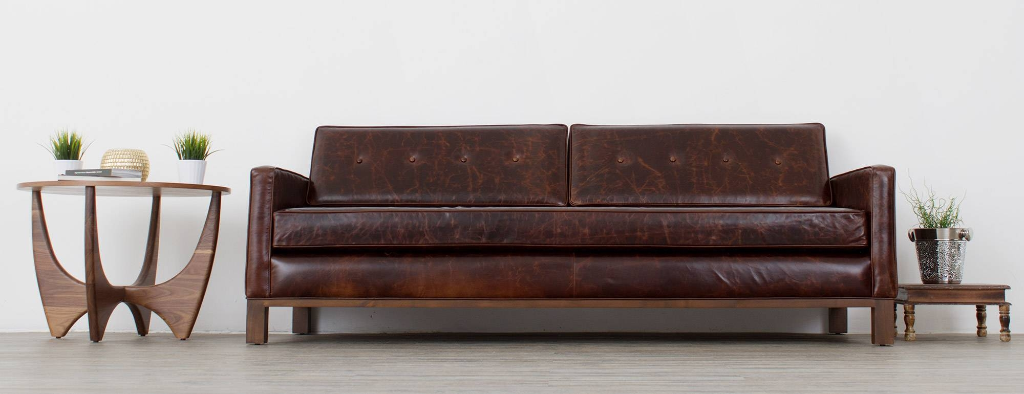 Raine Leather Sofa Joybird Brompton Hmmi Intended For Sofas Image