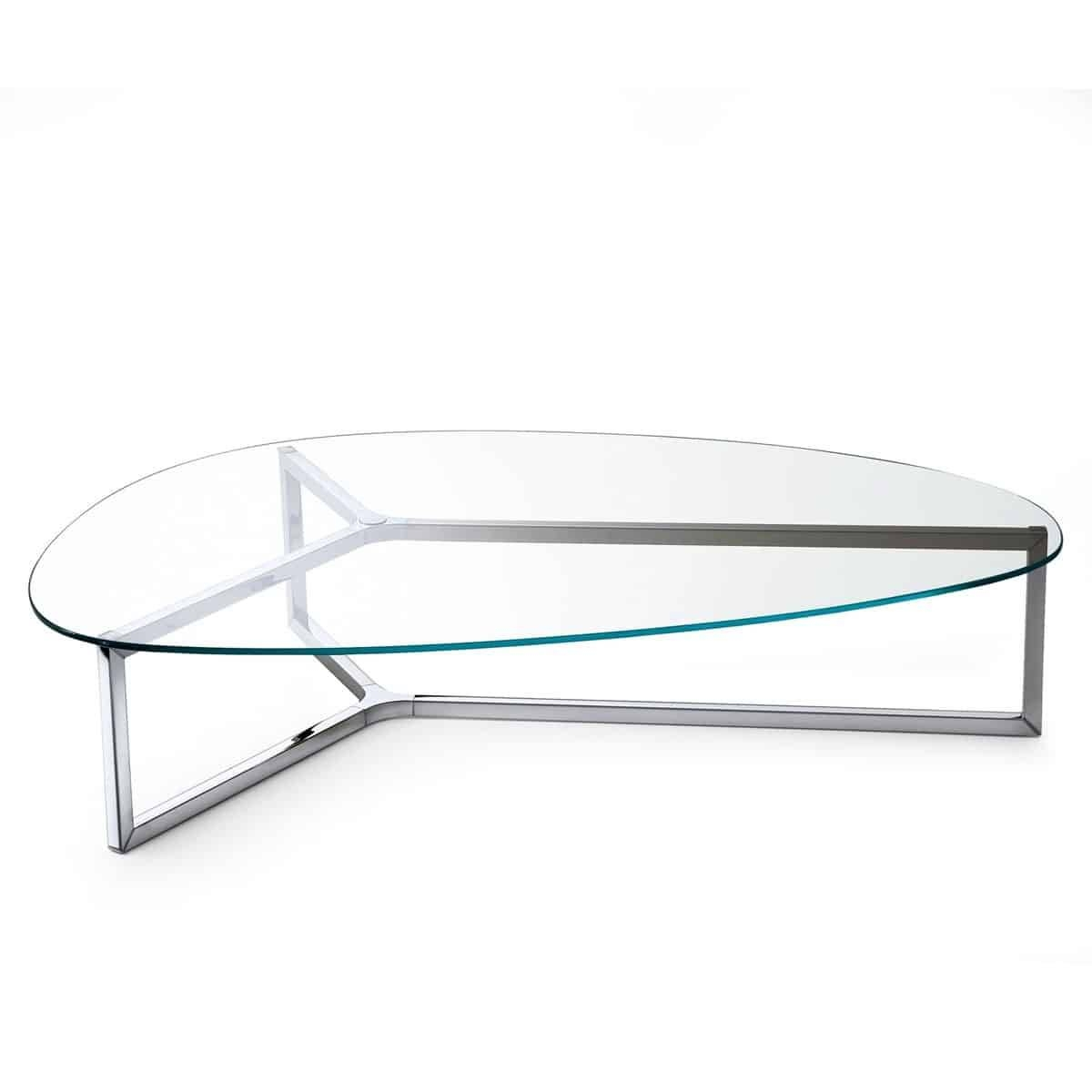 Raj 3 Glass And Metal Coffee Tablegallotti & Radice - Klarity with regard to Glass And Black Metal Coffee Table (Image 13 of 15)