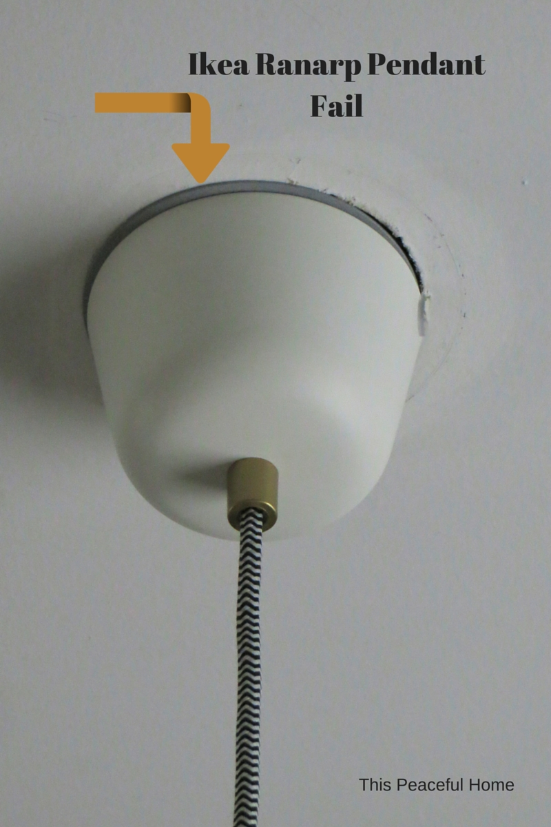 Ranarp Pendant Light Fix | This Peaceful Home throughout Ikea Pendant Light Kits (Image 13 of 15)