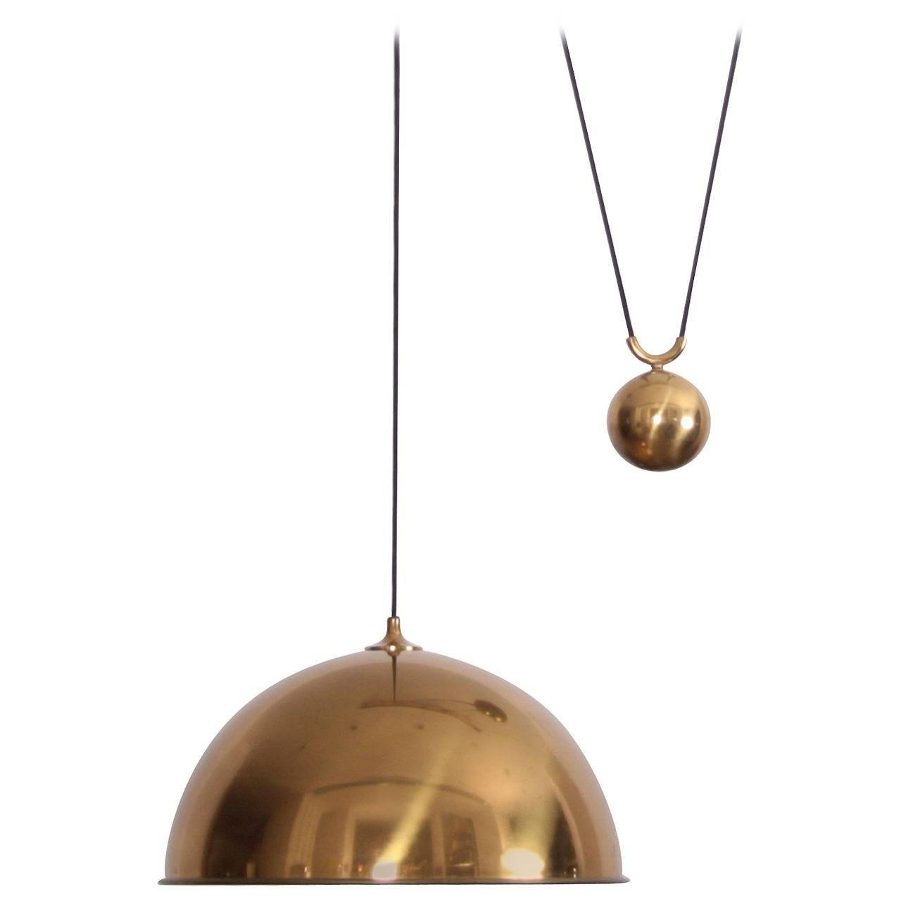 """Rare Extra-Large Florian Schulz """"posa"""" Side Counterweight Pendant with regard to Counterweight Pendant Lights (Image 15 of 15)"""