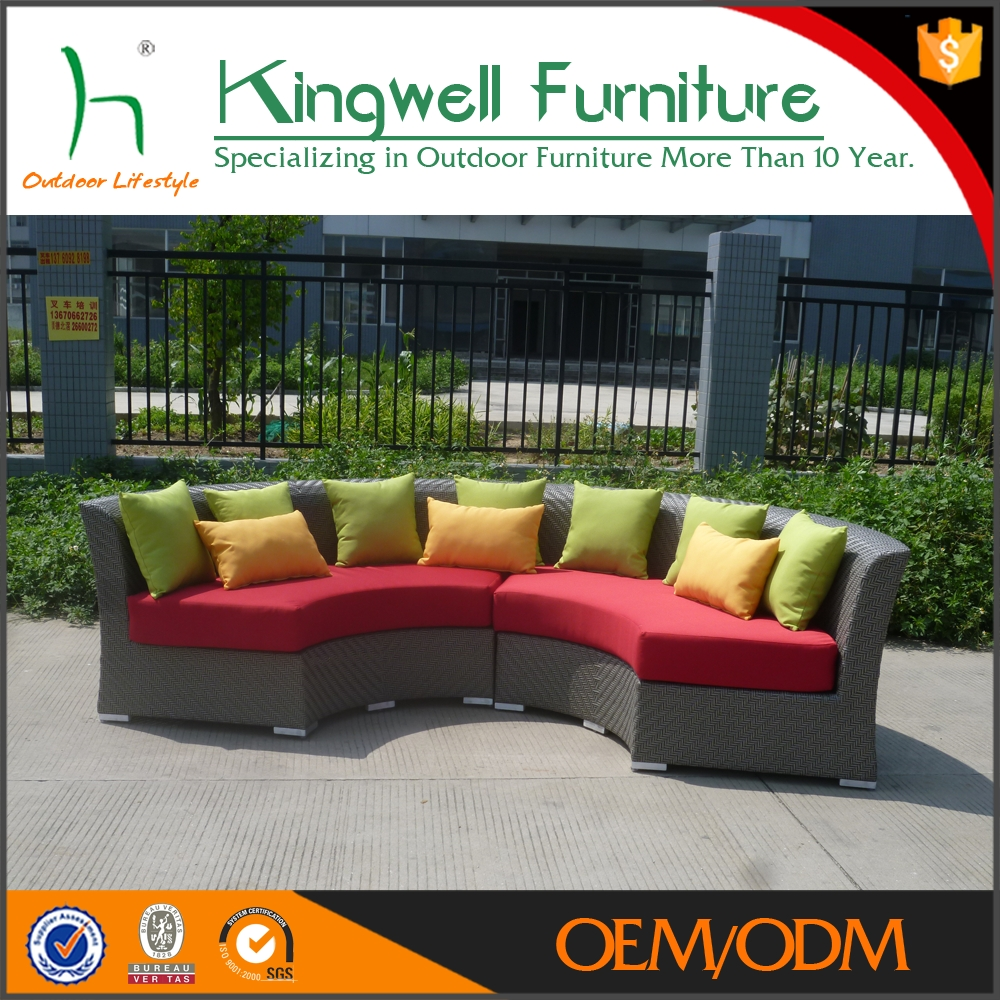 Rattan Half Moon Sofa Suppliers And With Sectional Sofas