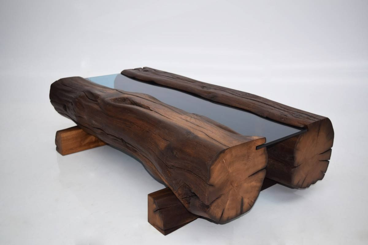 Reclaimed Oak Beam Coffee Table | Coleman & Edwards Makers Of Fine regarding Oak Beam Coffee Tables (Image 11 of 15)