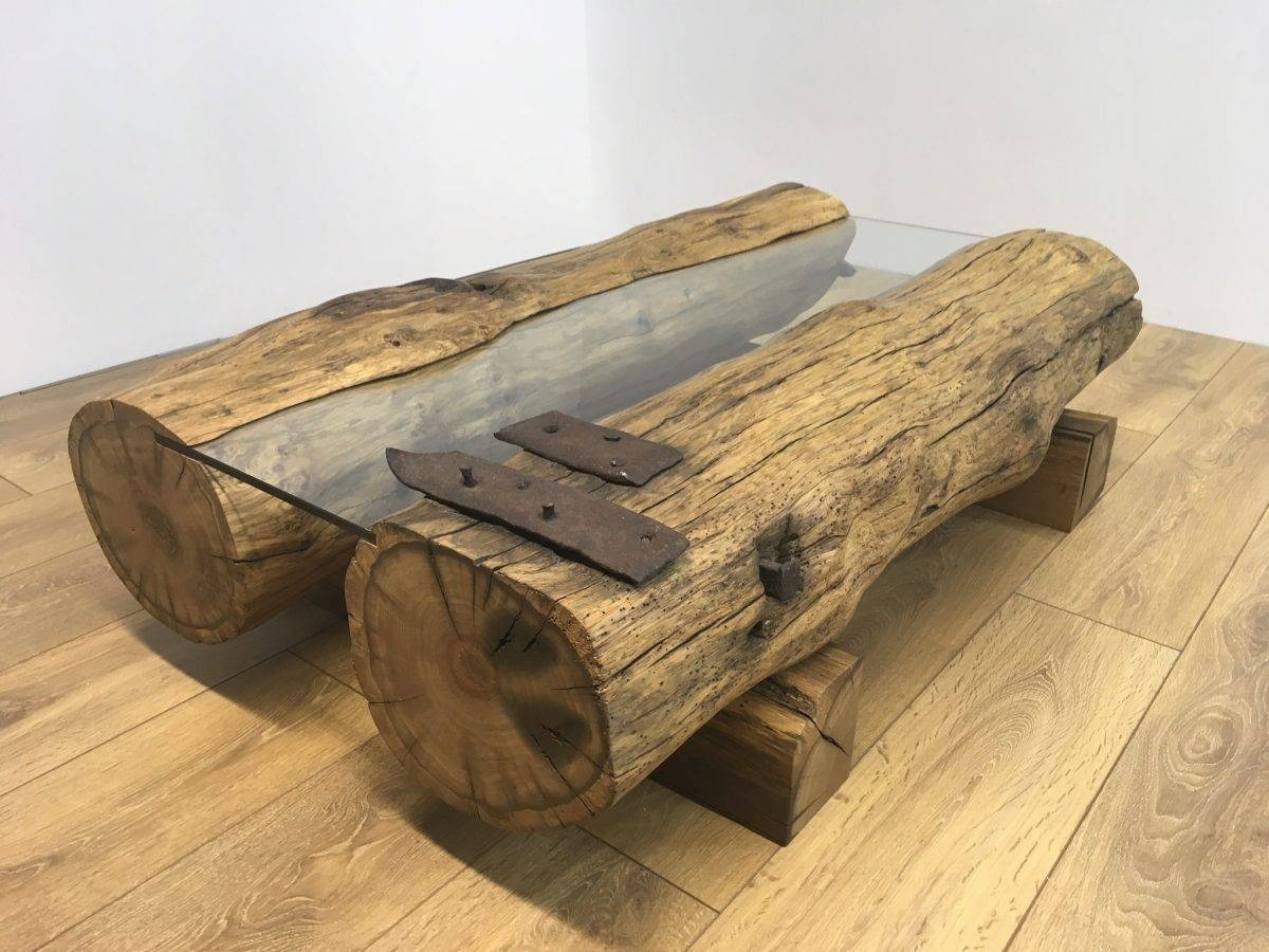 Reclaimed Oak Beam Coffee Table Ii | Coleman & Edwards Makers Of in Oak Beam Coffee Tables (Image 10 of 15)