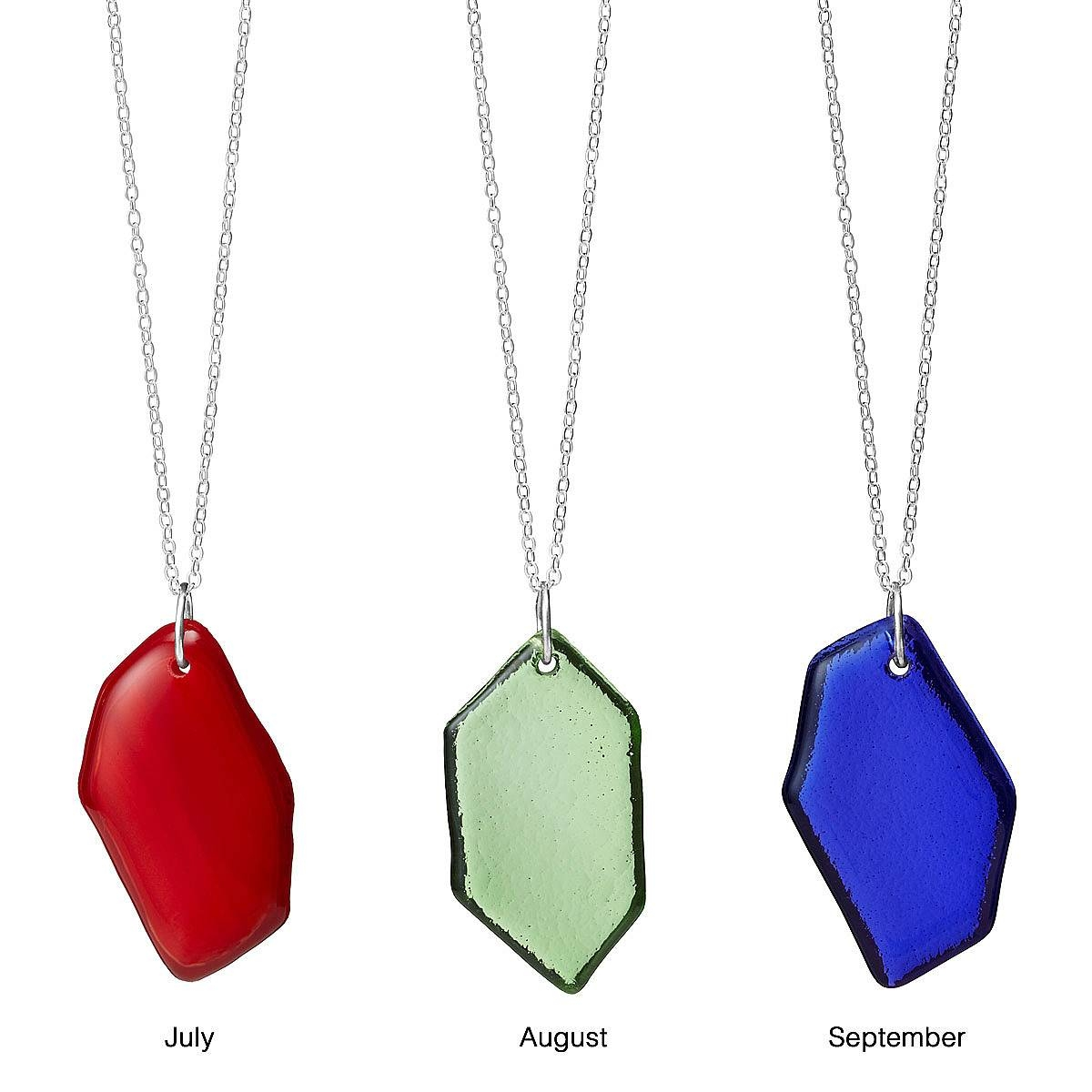 Recycled Glass Birth Month Pendant | Recycled Glass, Glass Jewelry intended for Recycled Glass Pendants (Image 8 of 15)