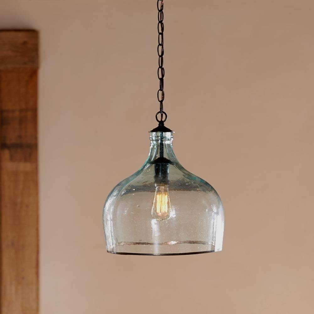 Recycled Glass Globe Light | Vivaterra throughout Recycled Glass Pendants (Image 9 of 15)