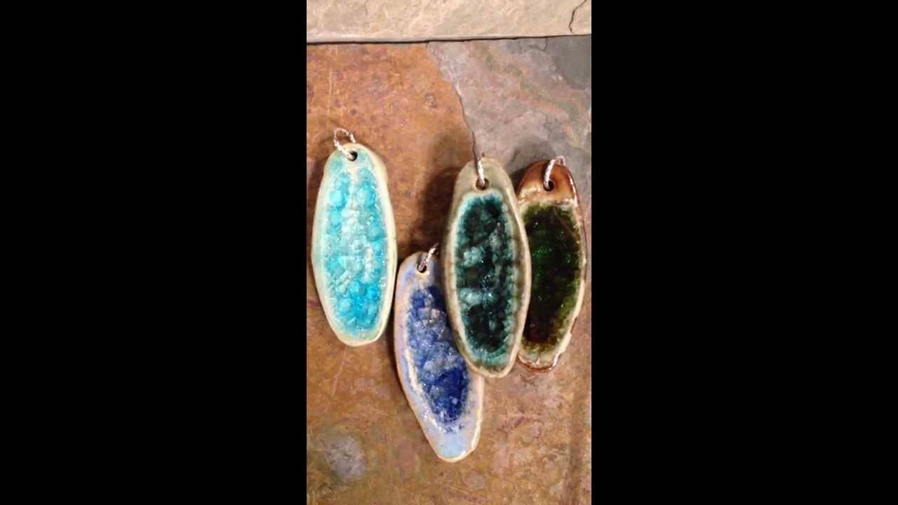 Recycled Glass Jewelry Ellipse Pendants - Youtube inside Recycled Glass Pendants (Image 10 of 15)