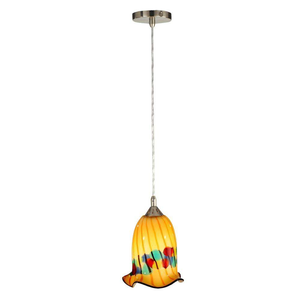 Red - Mini - Pendant Lights - Hanging Lights - The Home Depot for Tiffany Mini Pendant Lights (Image 9 of 15)