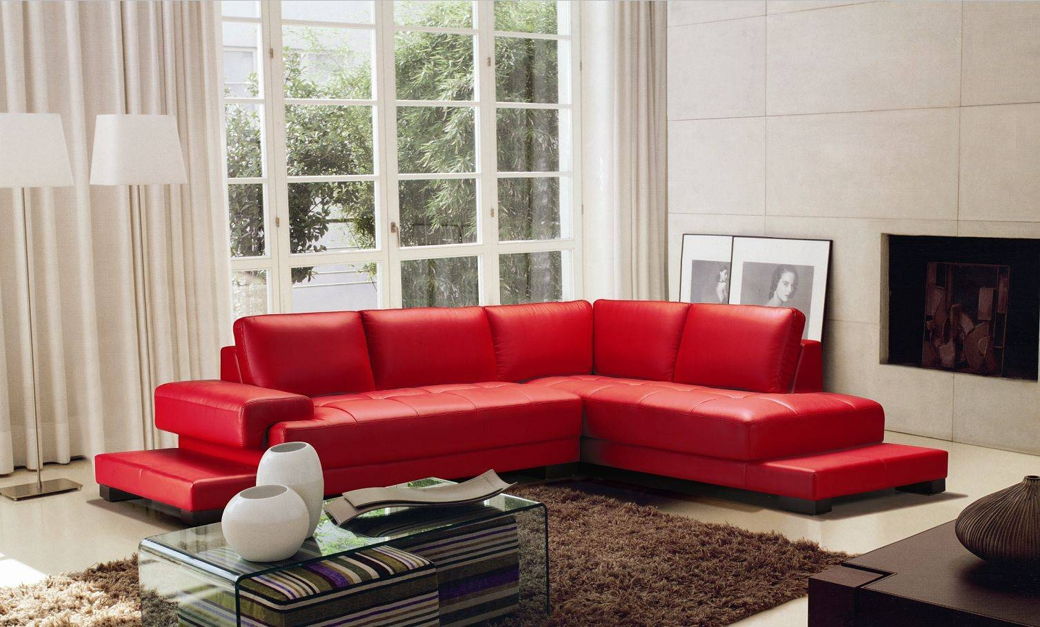 15 Photos Black And Red Sofa Sets