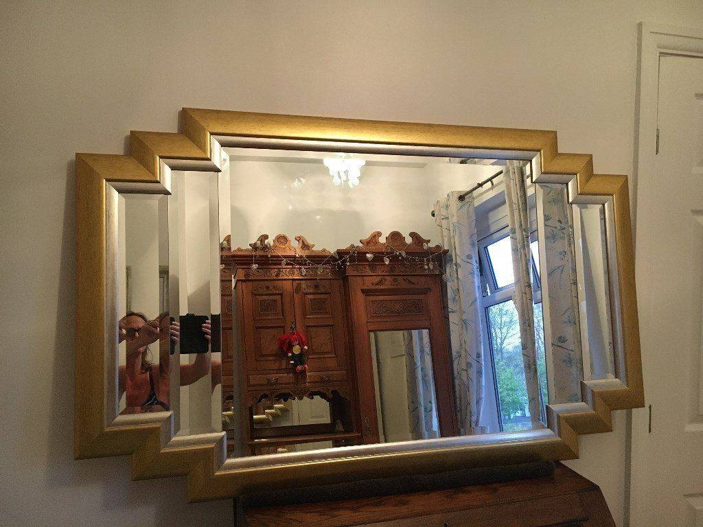 Reduced - Beautiful Large Vintage Gold Framed Art Deco Mirror in Art Deco Large Mirrors (Image 15 of 15)