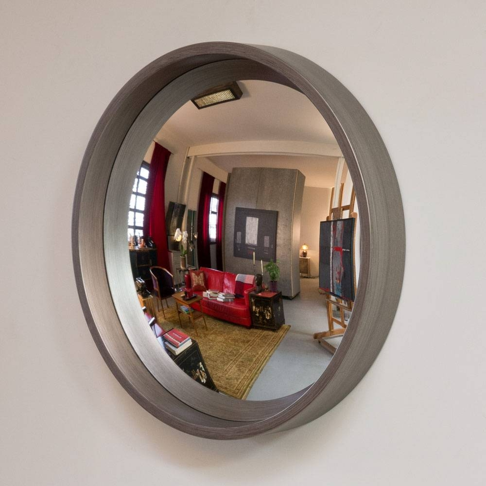 Reflecting Design Pazzo 27 Pewter P2Pw Decorative Convex Mirror Mn with regard to Convex Decorative Mirrors (Image 8 of 15)