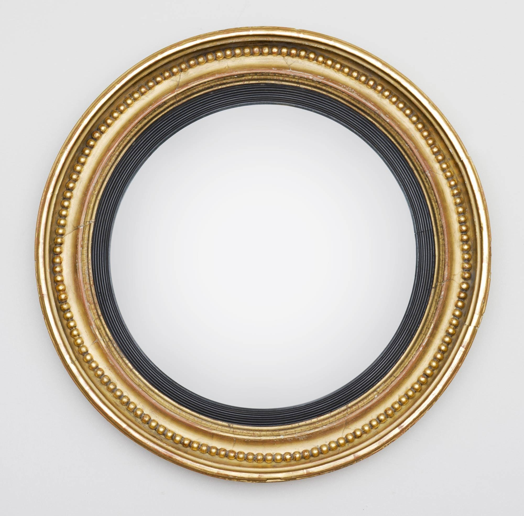 Regency Giltwood Antique Convex Mirror | Antique Giltwood Mirrors intended for Antique Convex Mirrors (Image 14 of 15)
