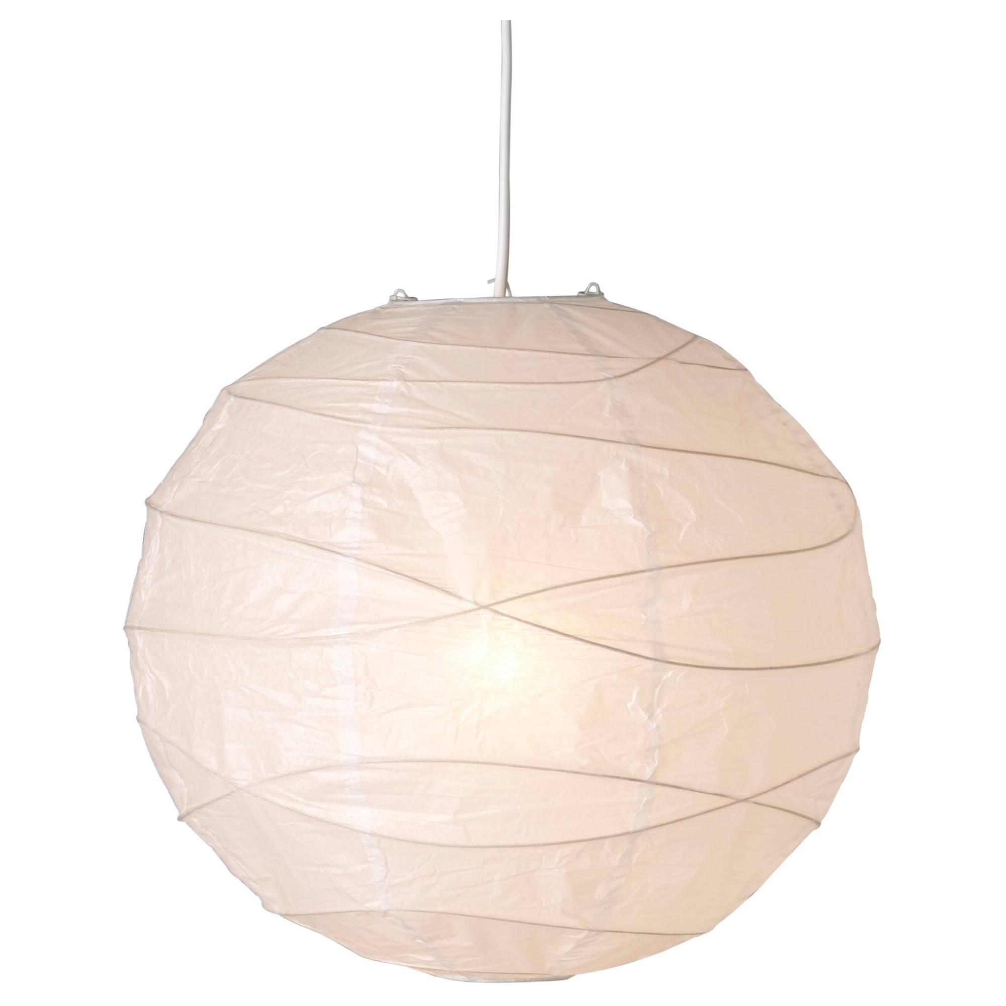 Regolit Pendant Lamp Shade White 45 Cm – Ikea Regarding Ikea Globe Lights (View 14 of 15)
