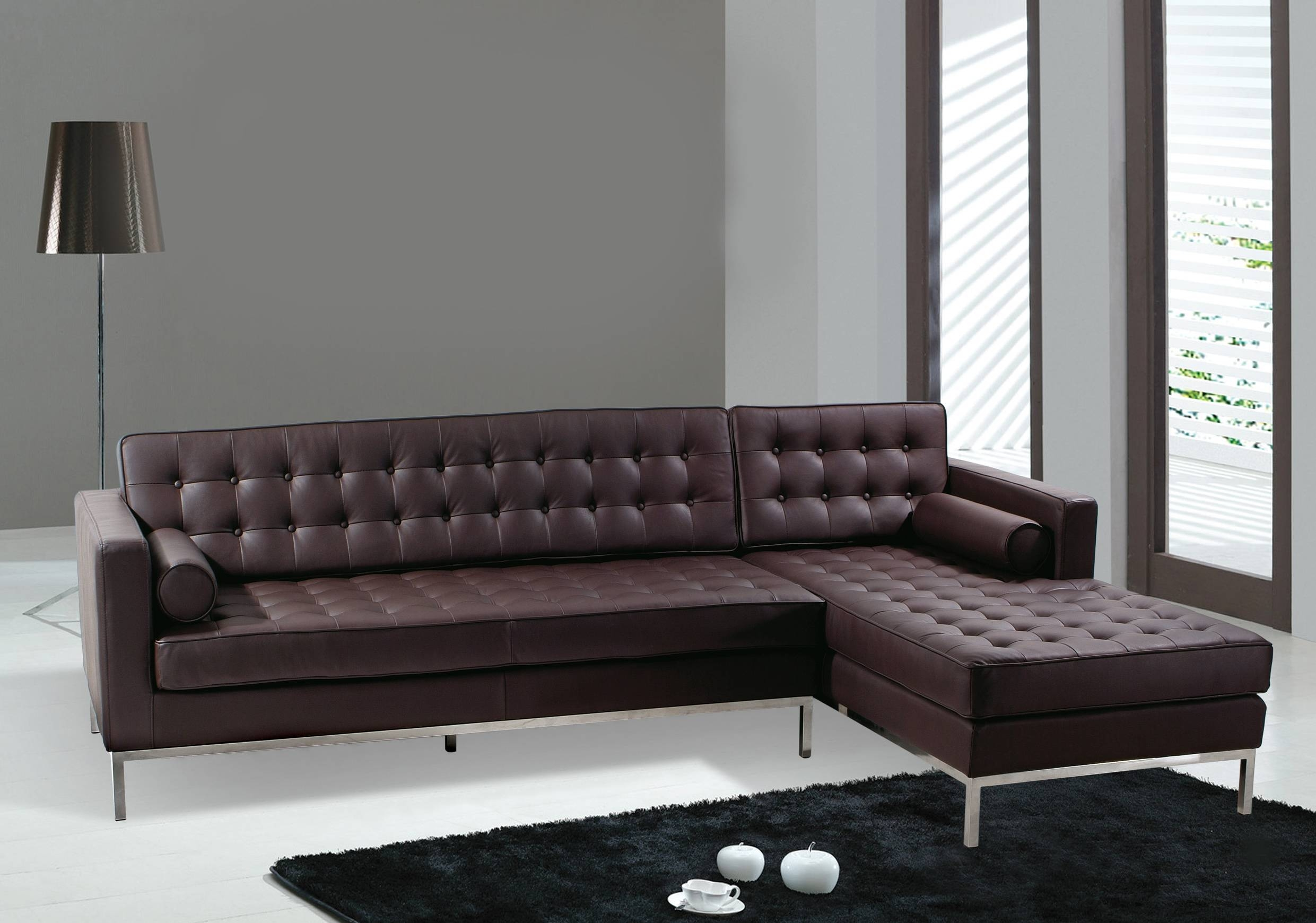Remarkable Brown Leather Sectional Sofa Clearance 66 In Circular With Jcpenney Sectional Sofas (View 14 of 15)