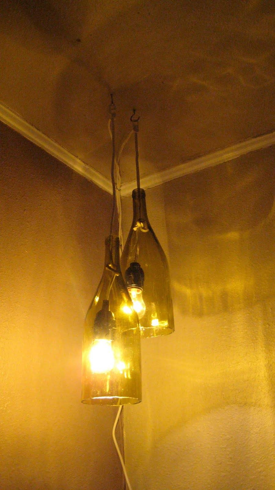 Remodelaholic | How To Make A Glass Wine Bottle Pendant Light Diy pertaining to Wine Bottle Pendants (Image 10 of 15)