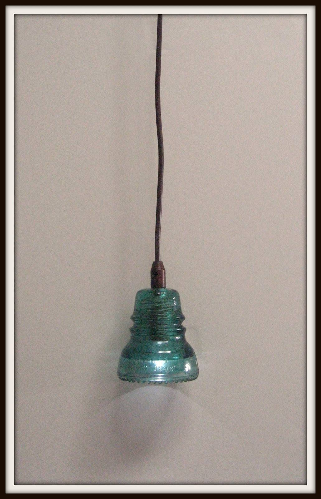 Remodelaholic | Recycling Glass Insulators Into Pendant Light Throughout Insulator Pendant Lights (View 13 of 15)