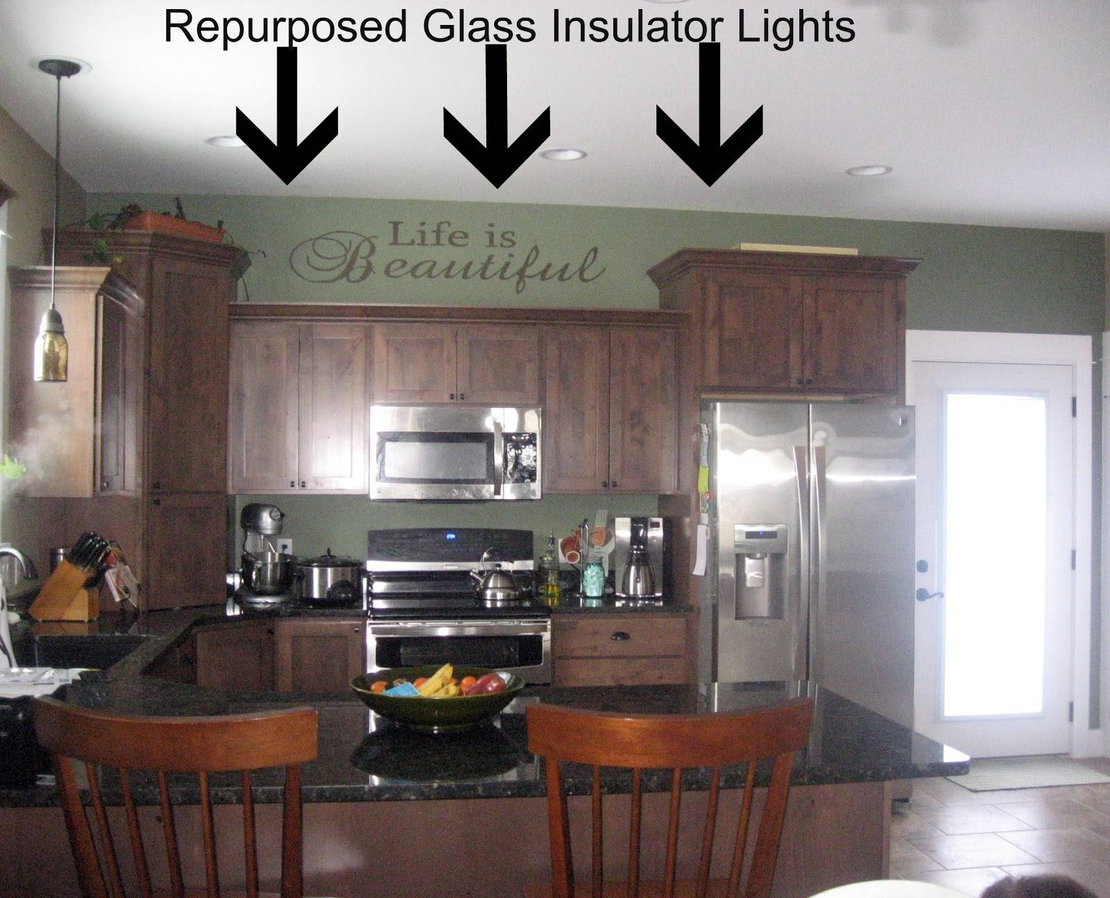 Remodelaholic | Recycling Glass Insulators Into Pendant Light with Insulator Pendant Lights (Image 14 of 15)