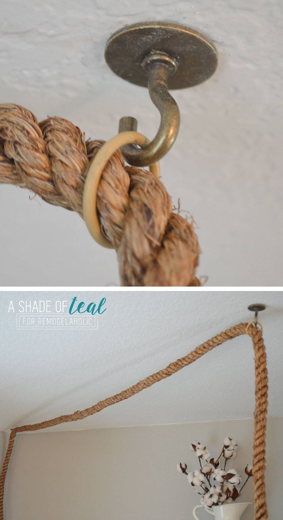 Remodelaholic | Terrarium To Geometric Pendant Light In Rope Cord Pendant Lights (View 11 of 15)