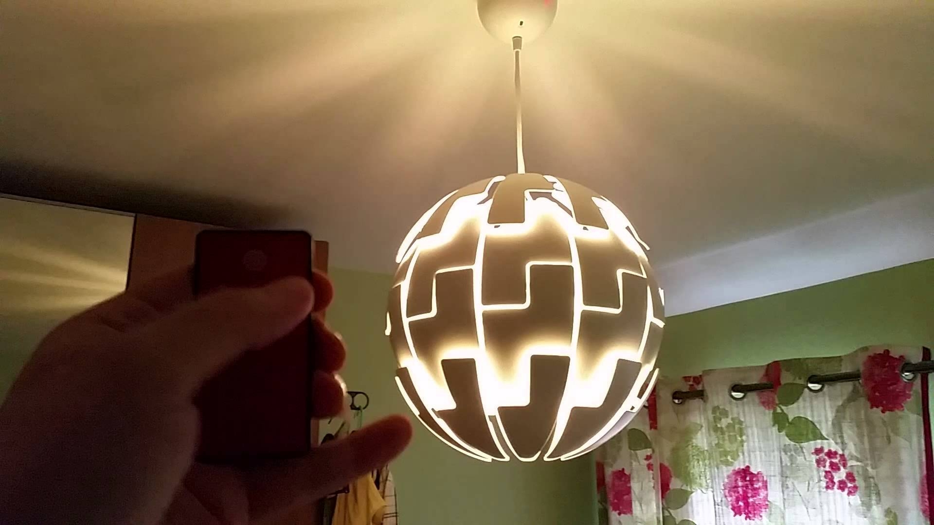 Remote Controlled Ikea Death Star Lamp – Youtube Within Ikea Lighting Pendants (View 13 of 15)