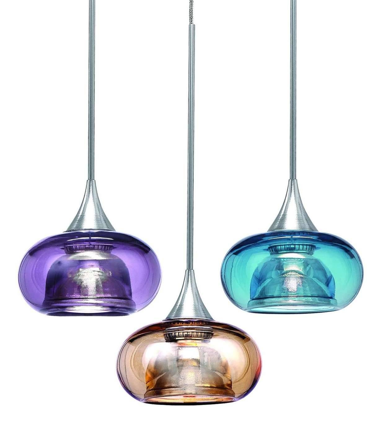 Replacement Glass Shades For Pendant Lights : Innovative Glass in Turquoise Blue Glass Pendant Lights (Image 8 of 15)