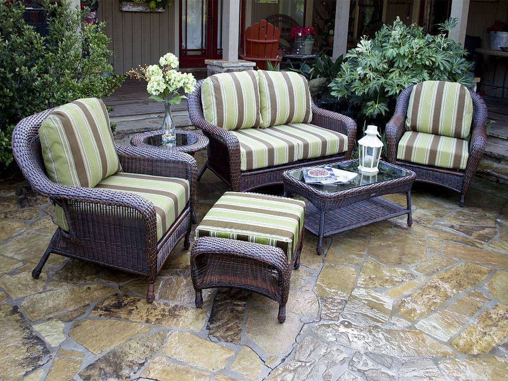 Resin Wicker Outdoor Furniture Set (View 12 of 15)