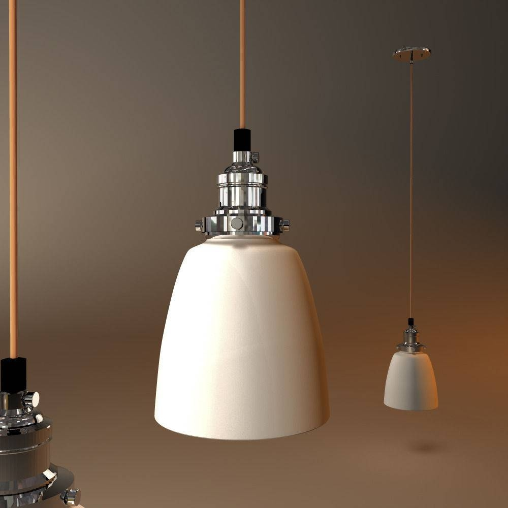 Restoration Hardware Factory Filament Milk Glass Cloche Pendant 3D throughout Milk Glass Pendant Light Fixtures (Image 11 of 15)