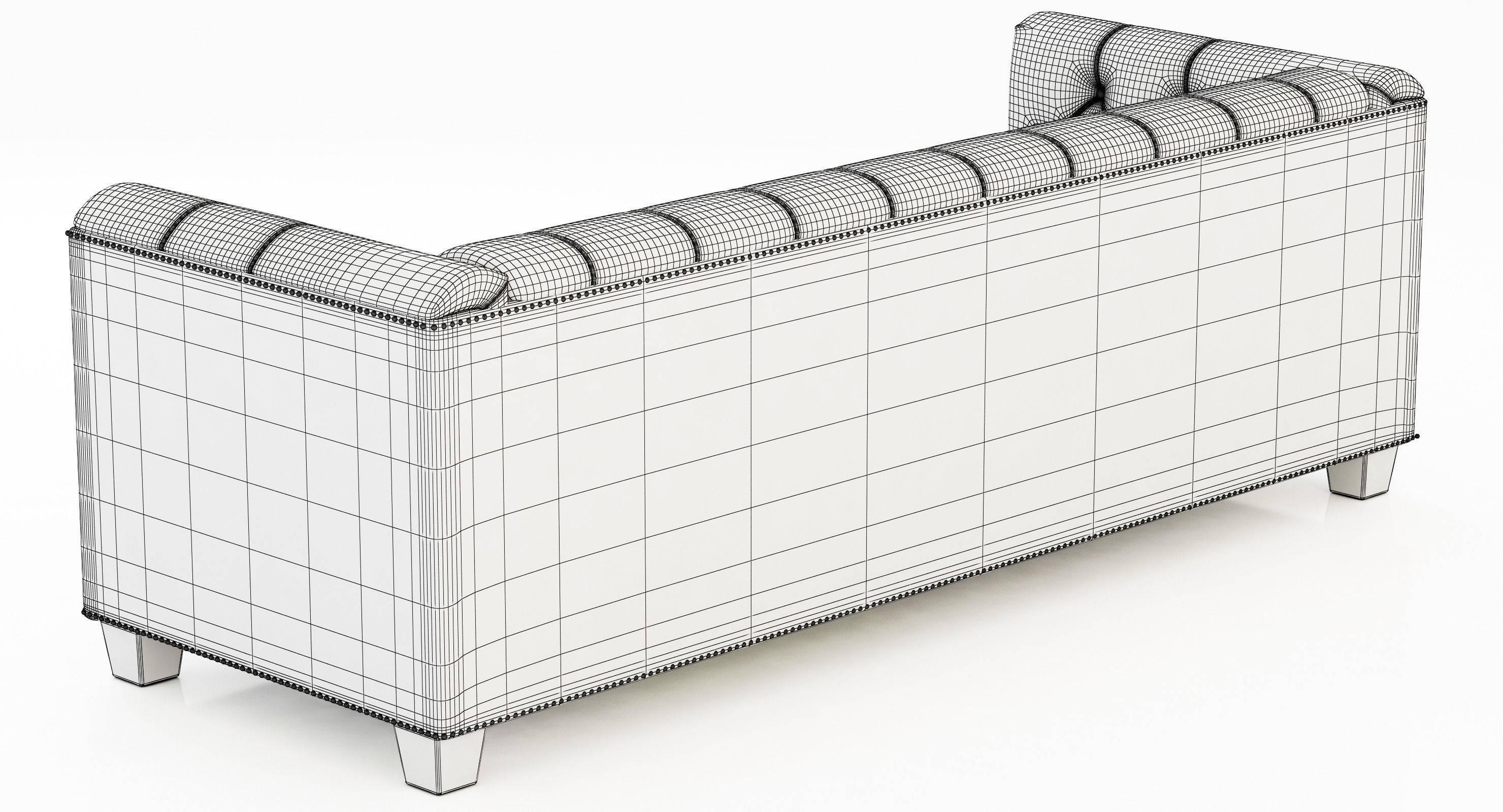 Restoration Hardware Savoy Leather Sofa 3D Model within Savoy Leather Sofas (Image 11 of 15)