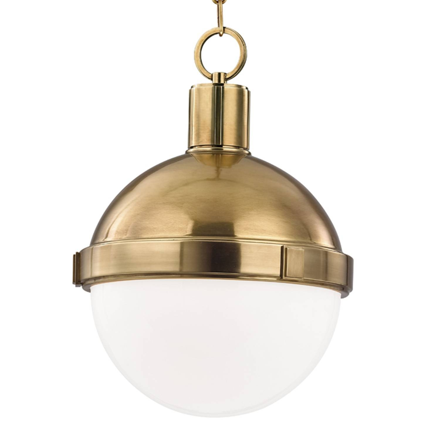 Restoration Warehouse Lambert Pendant - Aged Brass | Candelabra, Inc. within Small Hicks Pendants (Image 11 of 15)