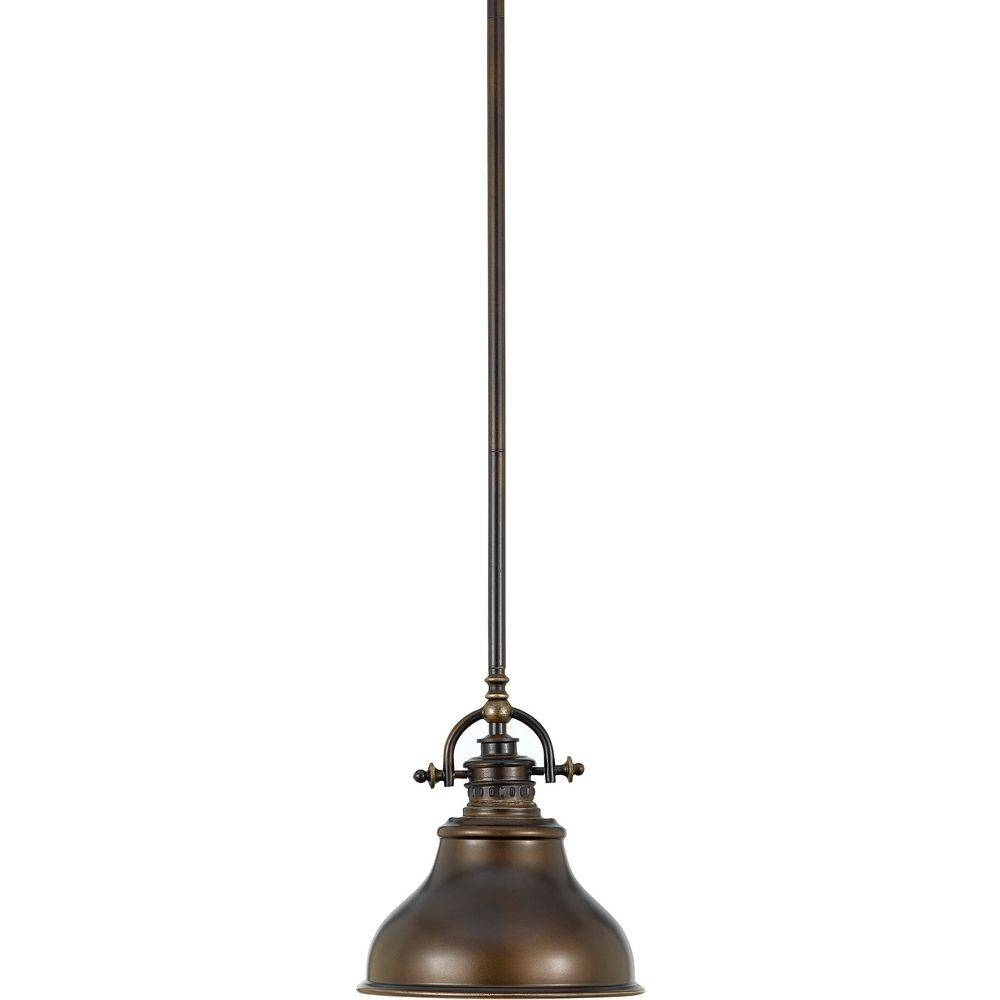Retro Cone Mini Pendant Light In Aged Bronze | 2038-1-78 throughout Halogen Mini Pendant Lights (Image 14 of 15)