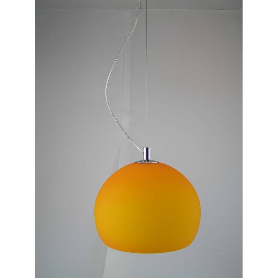 Retro Lighting Lpendelorange 1 Light Modern Ceiling Pendant Orange with regard to Orange Glass Pendant Lights (Image 12 of 15)