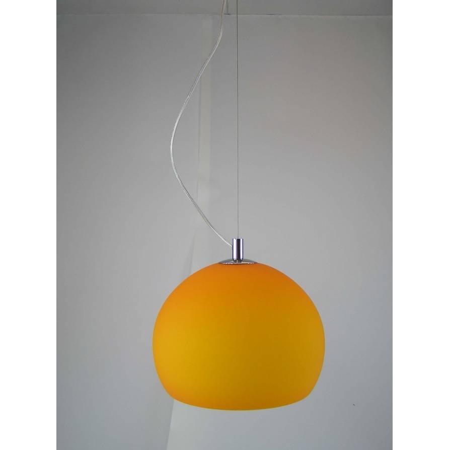 Retro Lighting Lpendelorange 1 Light Modern Ceiling Pendant Orange With Regard To Orange Glass Pendant Lights (View 12 of 15)