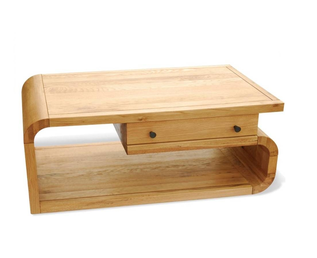 Retro Oak Coffee Table With Drawer | Hampshire Furniture regarding Retro Oak Coffee Table (Image 10 of 15)