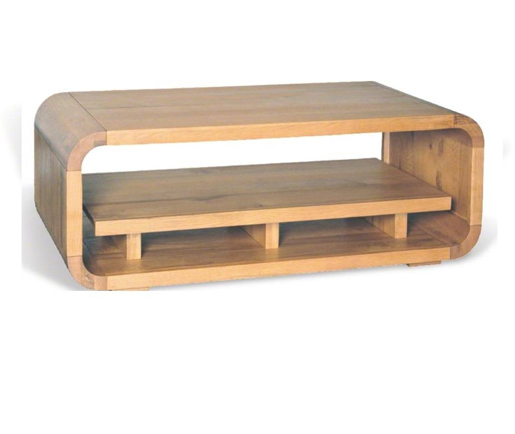 Retro Oak Coffee Table With Shelf | Hampshire Furniture regarding Retro Oak Coffee Table (Image 11 of 15)