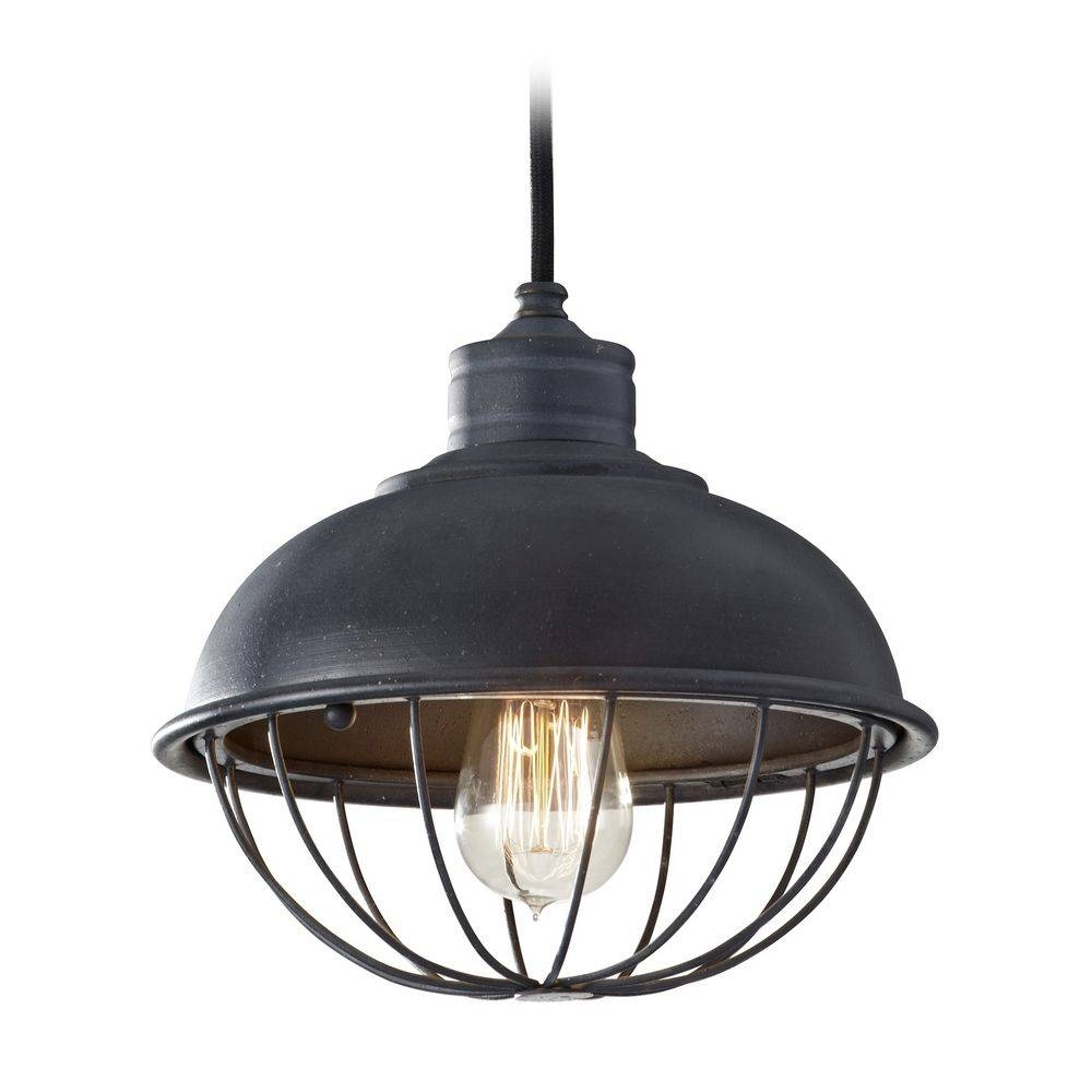 Retro Style Mini-Pendant Light With Bulb Cage Shade | P1242Af inside Industrial Looking Pendant Light Fixtures (Image 11 of 15)