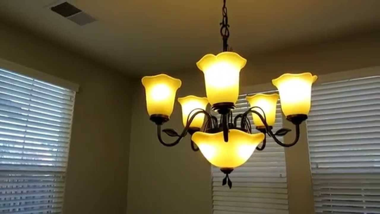 Review Of The Allen + Roth 5-Light Chandelier With Uplight Light with Allen And Roth Lights (Image 5 of 15)
