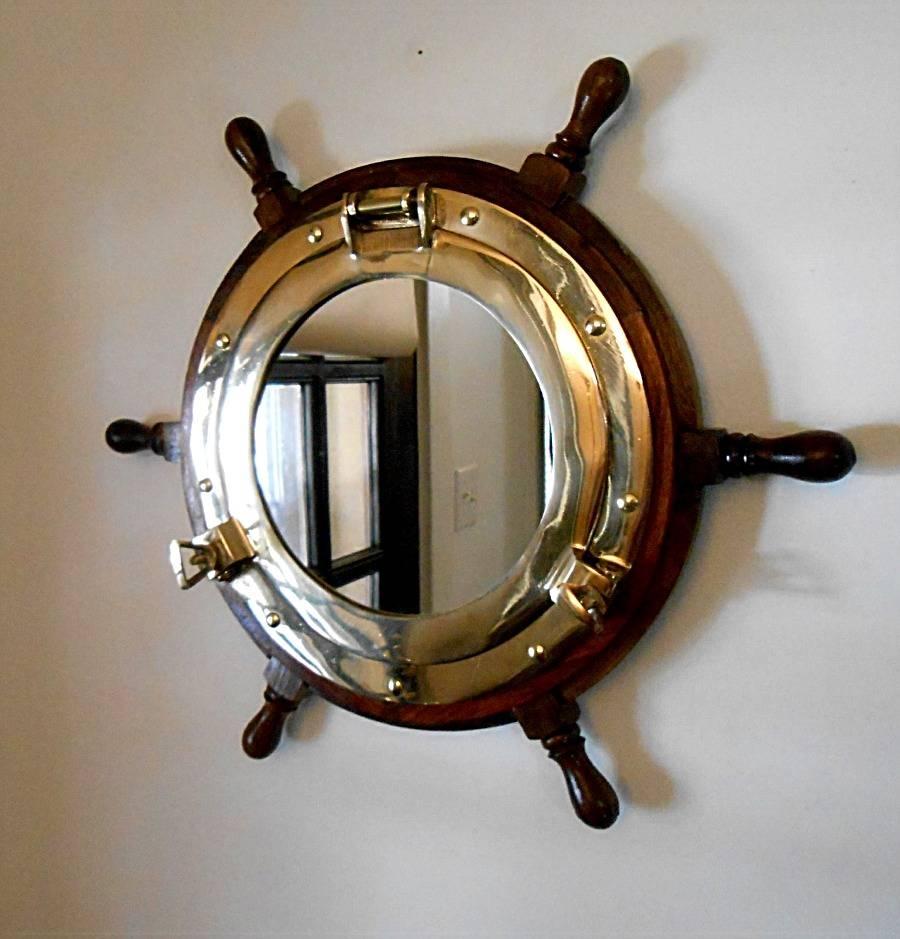Robin's Dockside Shop - Ships Wheel Porthole Mirrors within Porthole Mirrors (Image 13 of 15)