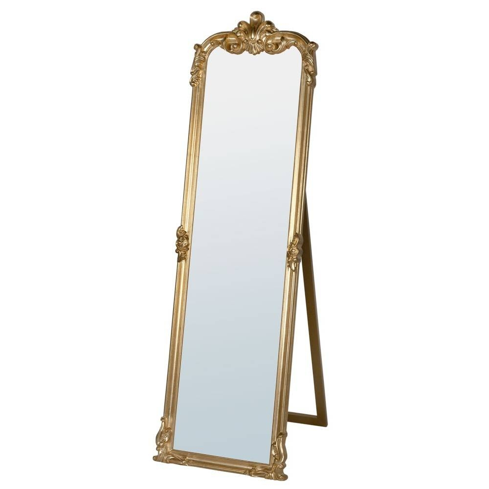 Rocaille Gold Free Standing Mirror - Mirrors, Furniture, Lighting pertaining to Gold Standing Mirrors (Image 15 of 15)